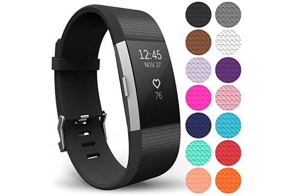 Yousave Accessories Compatible Strap for FitBit Charge 2, Si