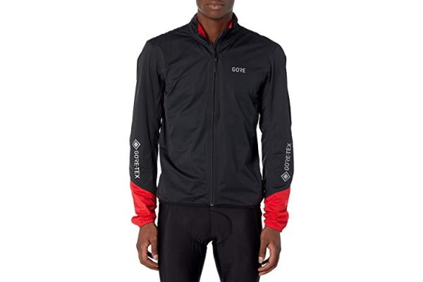 GORE Wear C5 Men's Cycling Jacket GORE-TEX, L, Black/Red