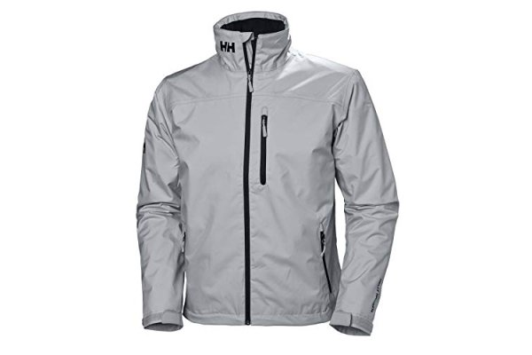 Helly Hansen Men's Crew Midlayer Waterproof Jacket, Grey Fog
