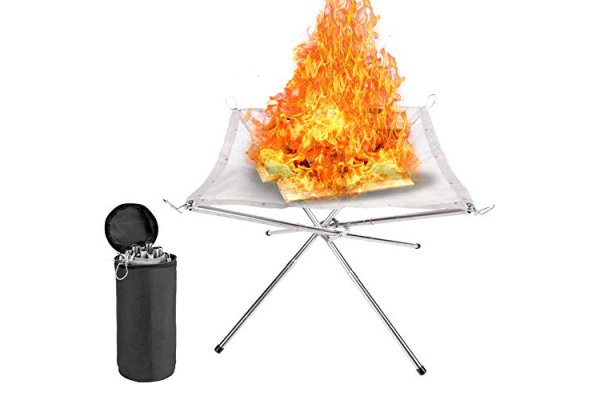 zhuolang Portable Fire Pit Outdoor Fireplace with Carrying B