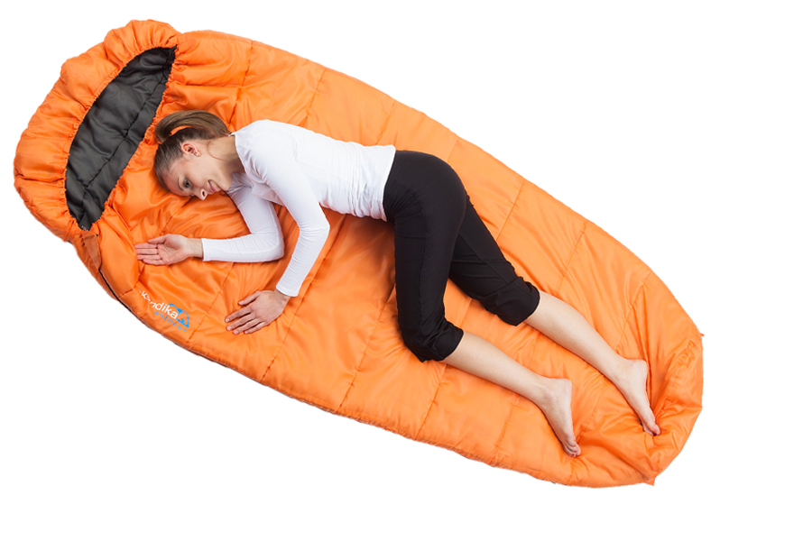 Skandika Vegas Orange Sleeping Bag - Left Zip