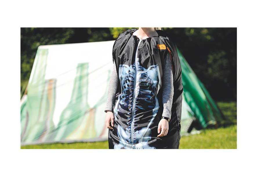 Wearable Sleeping Bag - Image Coat X-Ray design