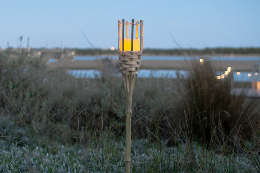 Bamboo LED Candle Tiki Torch