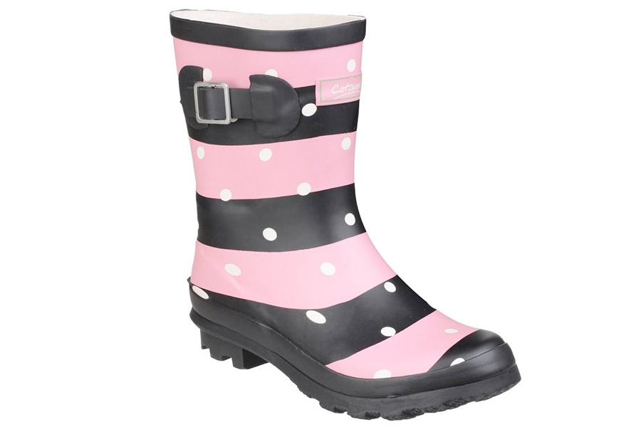 Cotswold Badminton Pink Striped Wellies