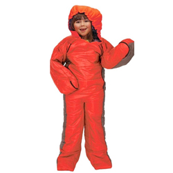Kids Summit Onesie Sleeping Bag Suit - Red