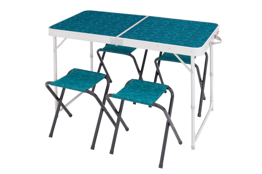 Camping Folding Table with 4 Chairs