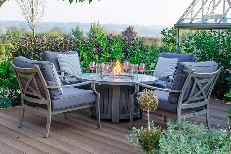 Fireglow 4 Seat Lounge set with built in gas fire