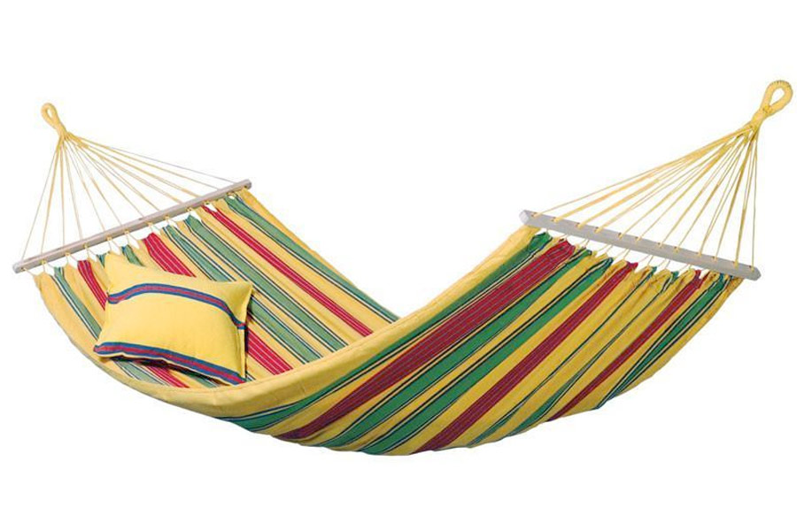 Aruba Single Hammock in vanilla stripe