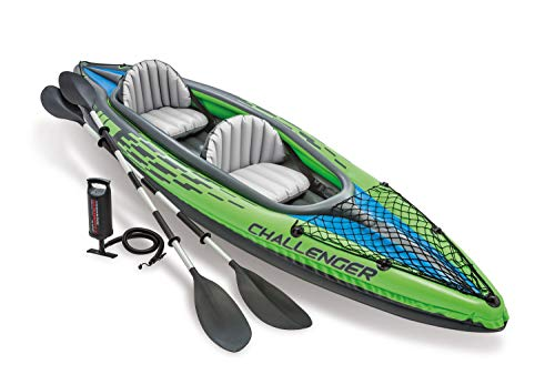 Intex K2 Challenger Kayak 2 Person Inflatable Canoe with Alu