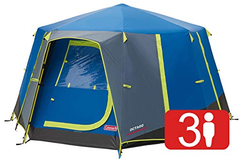 Coleman Tent Octago, 3 Man Tent Ideal for Camping in the Gar