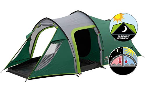 Coleman Chimney Rock 3 Plus Tent - Green/Grey, One Size