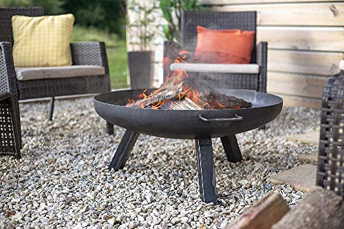 La Hacienda Pittsburgh Medium Firepit, Oiled Steel